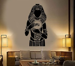 Ruler Ancient Egypt Vinyl Wall Decal Bedroom Pharaoh Egyptian Wall Stickers Mural Living Room Entry Way Wall Decor Decals D545