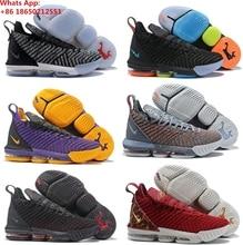 new concept 17130 0a690 LeBron 16 s XVI GS James zapatos de baloncesto zapatillas de deporte gris  rey prometo Oreo