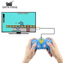 Data Frog Video Game Build In 36 Classic Games Handheld Players Support TV Output Controller Plug & Play Gameing Best Gift