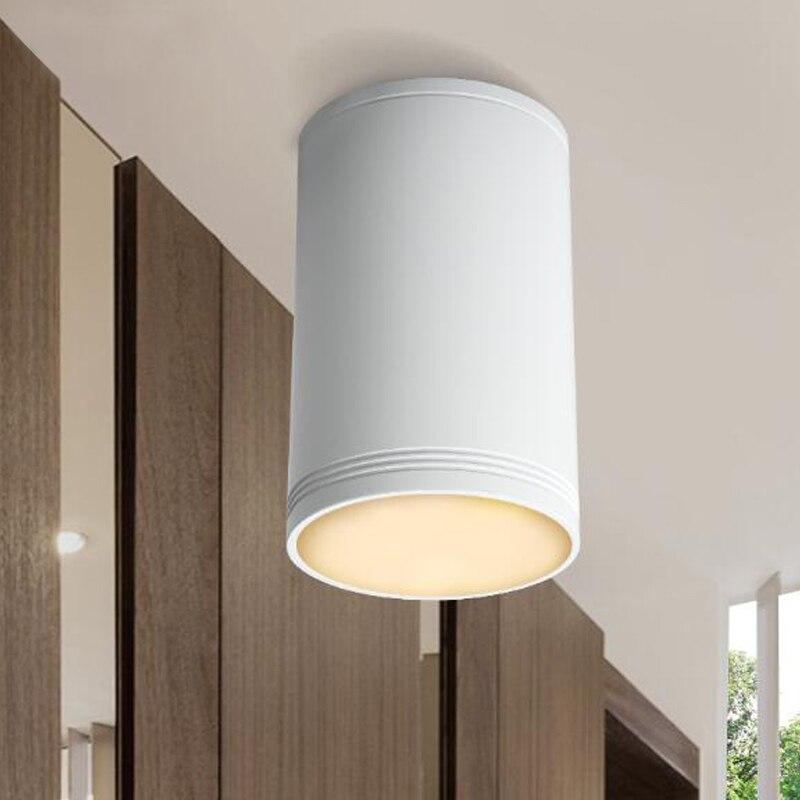 Aluminum LED White Black Outside Decked Down Light Bulb Window Aisle Light Down Light Study Light