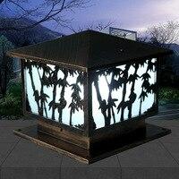 Колонка фары крыльцо свет пост огни жилой вилла двор настенный светильник сад настенный светильник водостойкие наружные огни