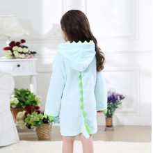 Boy Girl Dinosaur Spikes Hooded Towel Bathrobe