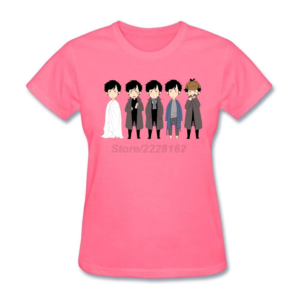 Custom Made Chibi Sherlocks T Shirt For Ladies Graphic Homme Adult Tees T Shirt Site