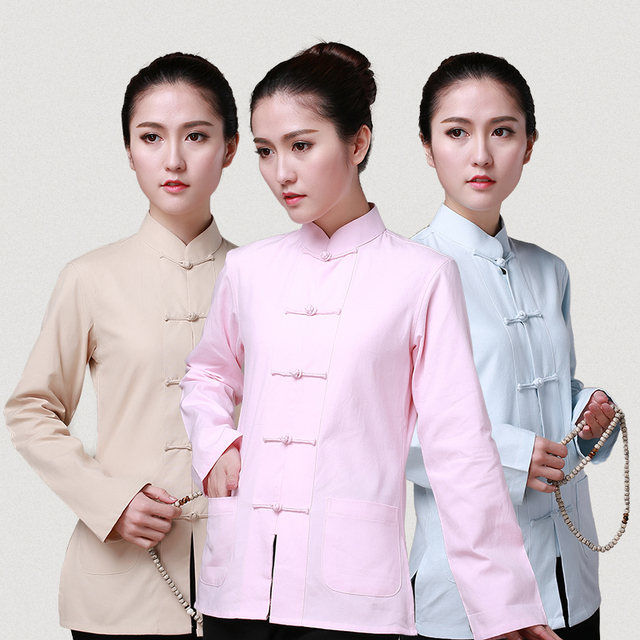 Traditional Chinese Female Long Sleeve Tai Ji Top