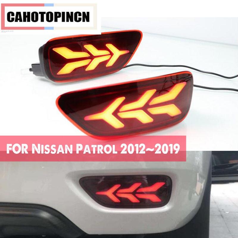 Multi function Car LED Tail light For Nissan Patrol 2012 2019 Rear Bumper Reflector Fog Lamp