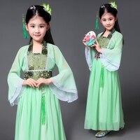 2017 autumn design children's fairy costume tang dynasty princess costume hanfu guzheng dance ancient chinese costume