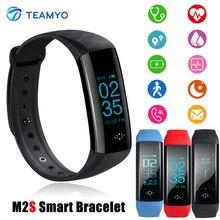 Teamyo M2S Смарт Браслет артериального давления часы фитнес-трекер активности Поддержка Running монитор сердечного ритма Смарт запястье