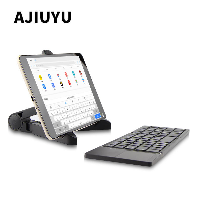 цена на Three folded wireless Bluetooth Keyboard For CHUWI Hi10 Plus Pro Hi12 Hi13 Hi8 Hi9 Air Vi10 Vi8 Vi7 Surbook mini Tablets PC Case