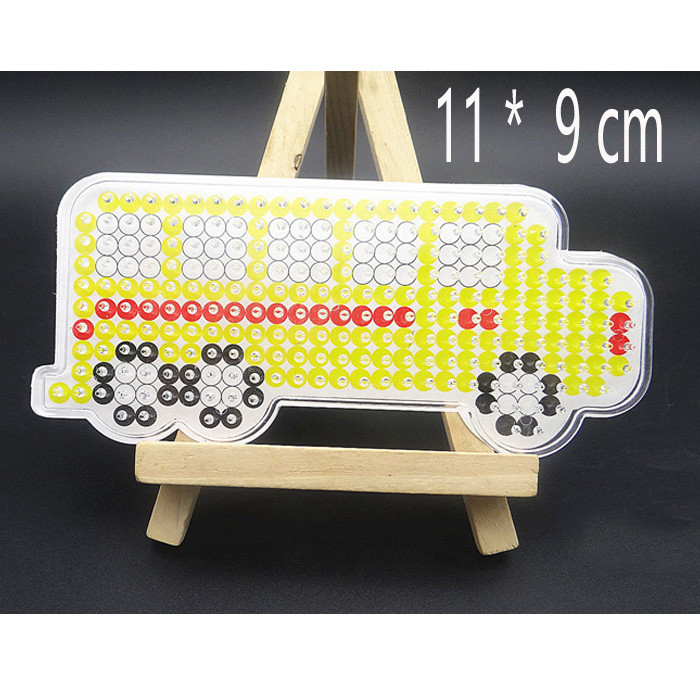 Us 1 35 Eva Pegboards Patterns For Diy Hama Beads 5mm Jigsaw Tool Vehicles Animal Perler Beads Board Puzzles Crafts Kids Girls Toys In Beads Toys