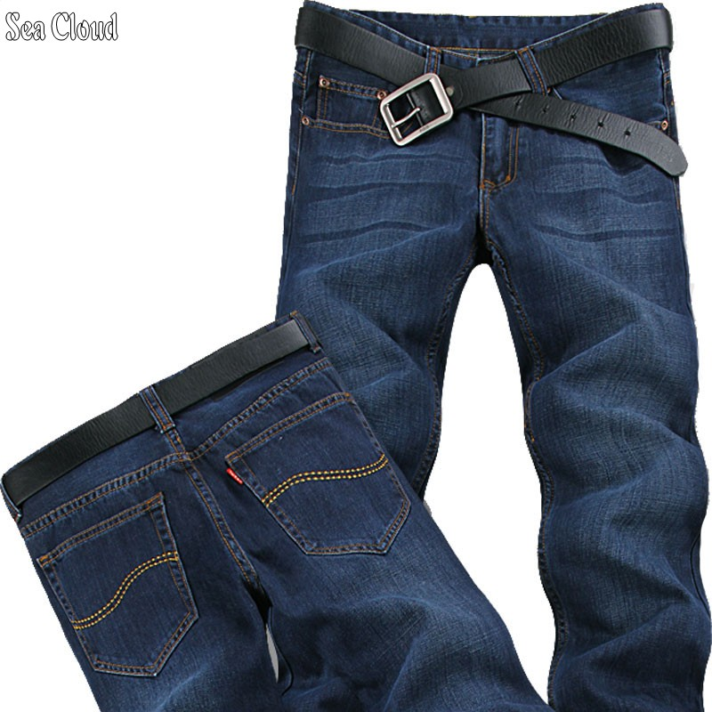 Sea Cloud Free shipping loose straight cargo Denim pants plus length 125 cm jeans male plus size long trousers extra long male free shipping autumn and winter male straight plus size trousers loose thick pants extra large men s jeans for weight 160kg