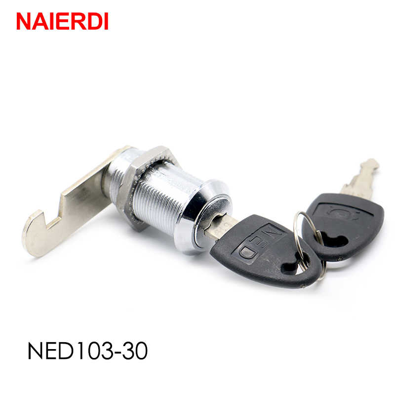NAIERDI Cam Cylinder Locks Door Cabinet Mailbox Padlock Drawer Cupboard Box Lock With 2 Keys For Furniture Hardware 103 Series