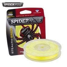 Original Spiderwire Brand Stealth 125yd 114m Fishing Line Hi-Vis Yellow Superline Fishing Line 20lb 30lb 40lb 50lb
