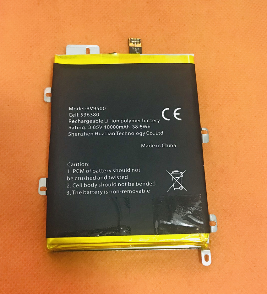 Used Original 10000mAh Battery Batterie Batterij Bateria For Blackview BV9500 MT6763T Octa Core 5.7inch FHD image