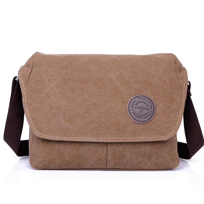 Classic Mens Small Canvas Messenger Bag