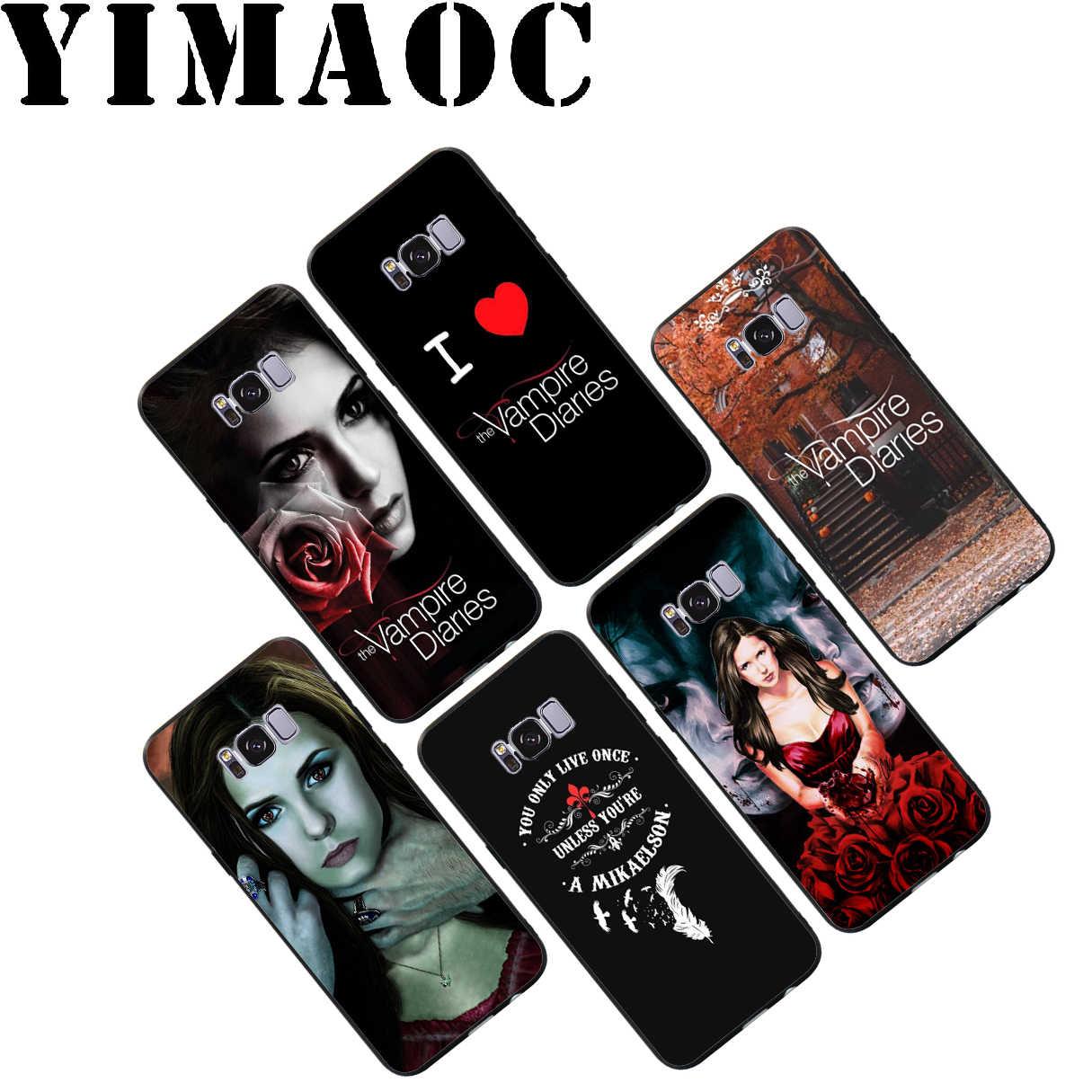 YIMAOC pamiętniki wampirów miękkie etui do Samsung Galaxy S10 S10e S9 S8 A6 Plus S7 S6 krawędzi A7 A5 A3 J6 uwaga 9 8