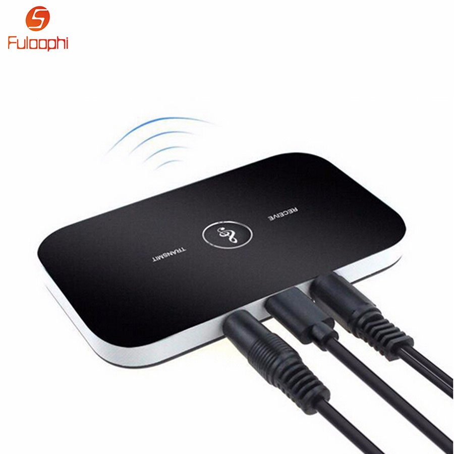 Fuloophi B6 2in1 Bluetooth 4 1 Transmitter Receiver Wireless Audio Adapter Aux 3 5mm Audio Player