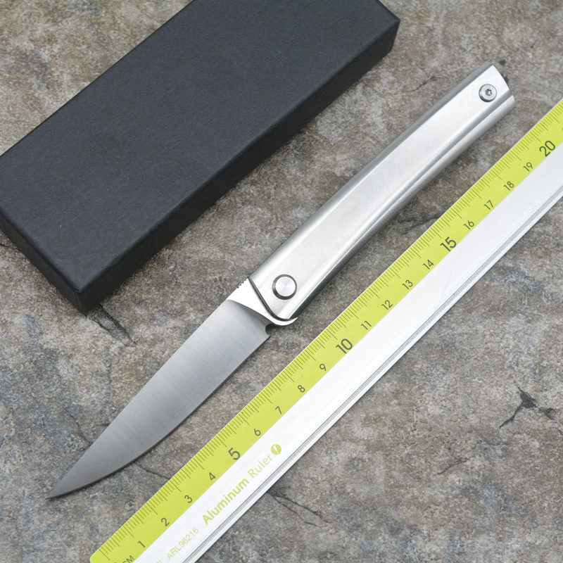 XS-LINE New arrival D2 blade Titanium handle Flipper folding knife Outdoor camping hunting Survival pocket knives EDC tools high quality army survival knife high hardness wilderness knives essential self defense camping knife hunting outdoor tools edc