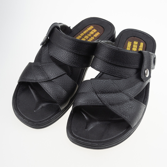 419eafc0eba 2019 Men Sandals Pu Leather Summer Sandals Men Breathable Flat Sandals  Casual Shoes Sandalias Hombre Slides