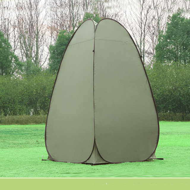 1 Person Portable Outdoor Pop Up Changing Tent 120*120*190cm Automatic Bottomless Steel Frame Bath Dressing Tent