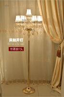 Crystal floor lamp European living room luxury simple modern bedroom wedding creative American floor light crystal standing Lamp