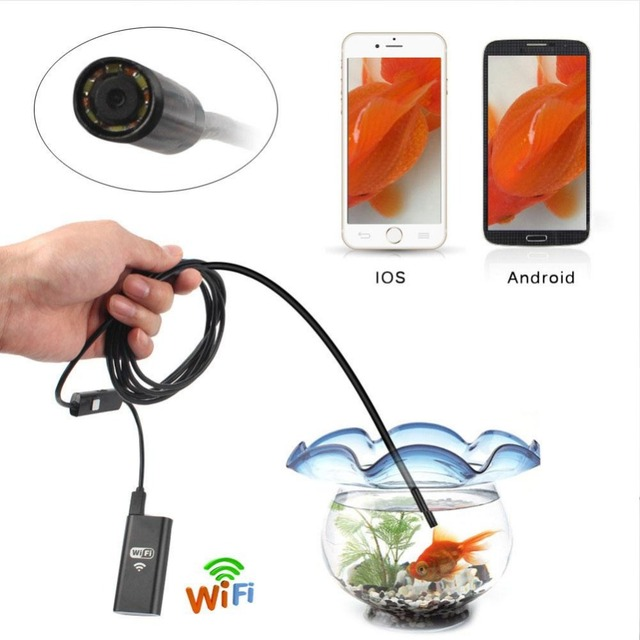 WiFi For iOS Android Endoscopes 720P 2.0MP 8mm Lens WIFI Endoscope Camera 3.5M LED Tube Inspection Camera Wireless Borescope