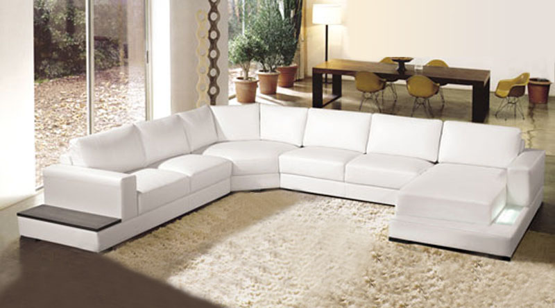 US $1565.0  Soft comfortable Genuine leather sofa set with chaise-in Living  Room Sets from Furniture on AliExpress