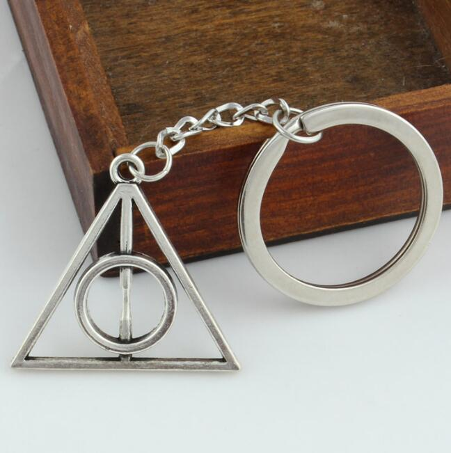 Key-Holder Pendant Triangle Keychain Hallows Fashion Cool Unisex Loop-Fasteners Deathly
