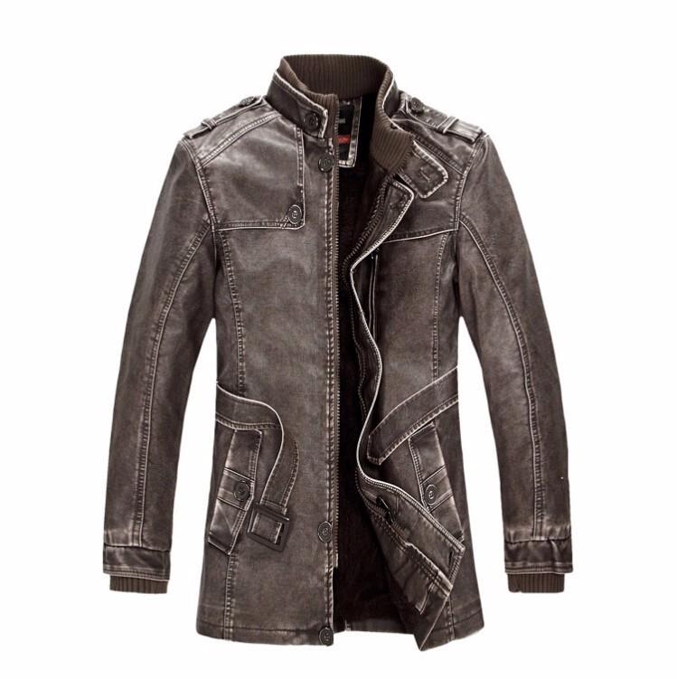 leather jacket fur men