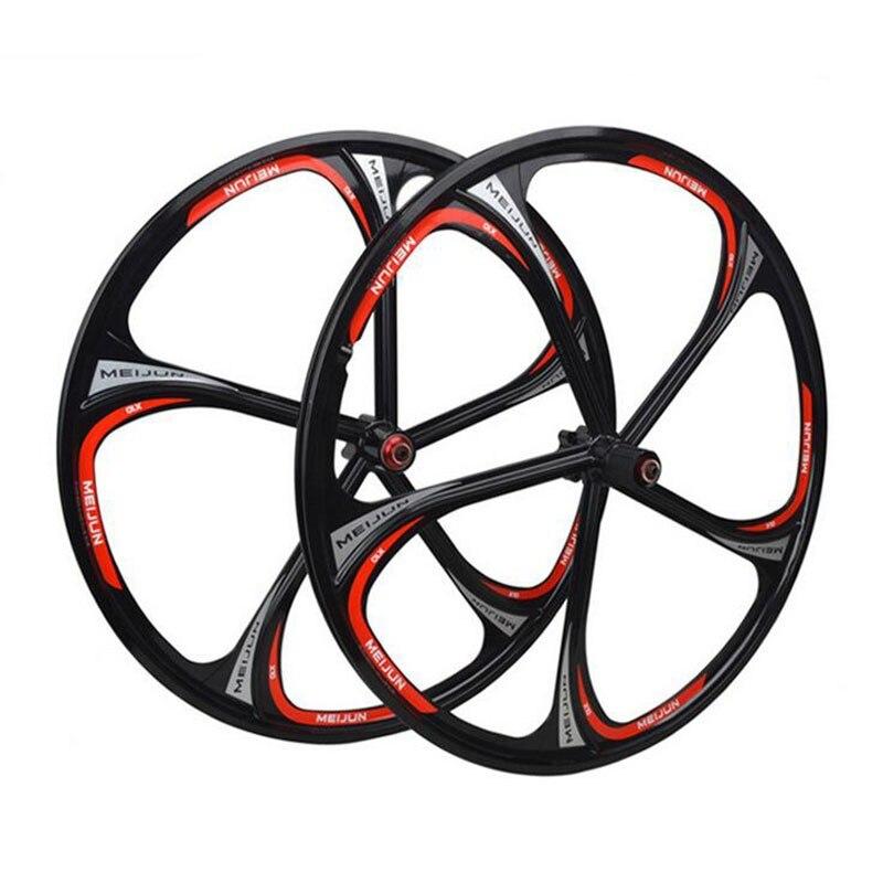 wheels 26 inches Mountain Bicycle Wheel 2PC MTB wheel magnesium alloy  5 spokes Bicycle front rear 2016 rc3 26inch mountain bike bicycle front 2 rear 5 bearing japan hub super smooth flat spokes wheel wheelset 27 5inch rim