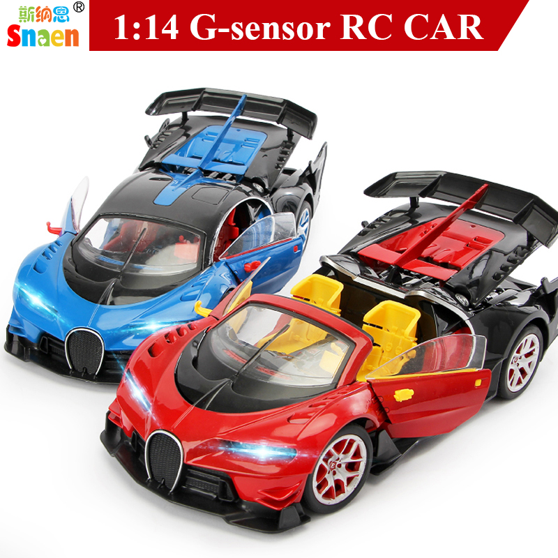 Snaen Bugatti Gravity Induction Remote Control Car Electric Off Road w One Key Transform High Speed