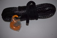 Free Shipping 12mm 30m Black Winch Rope Synthetic Rope Spectra Winch Cable Off Road Rope Kevlar