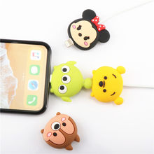 SIANCS For iphone Usb Cable Cartoon Doll Organizer Winder Cable Bite Protector Cute Stitch Chager Wire Holder For iphone Cable(China)