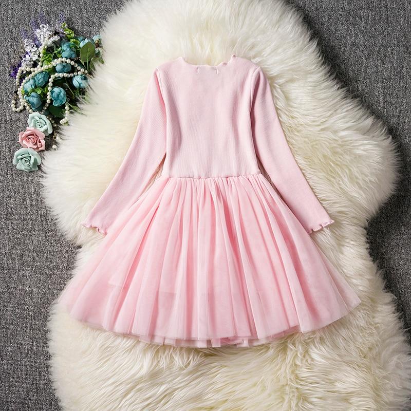 HTB15QMWaHj1gK0jSZFuq6ArHpXaR Kids Long Sleeve Lace Drsses for Girls Party Dress Star Printed Birthday Tutu Dresses Children Casual Wear 3 6 8 Years Vestidos