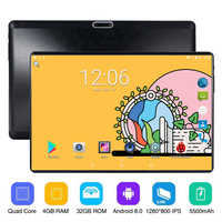 10 inch Phone Call Android 8.0 Quad Core 4G 32G Tablet Pc Built-in 3G 4G LTE 1280x800 IPS 2.5D G+G touch screen 10.1 inch Tablet