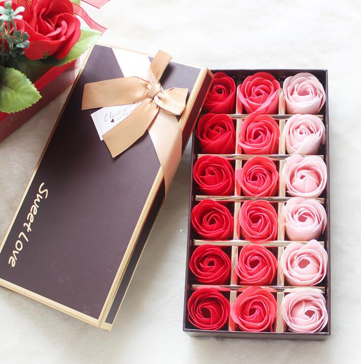18pcs rose soaps flower packed wedding supplies gifts event party, Ideas