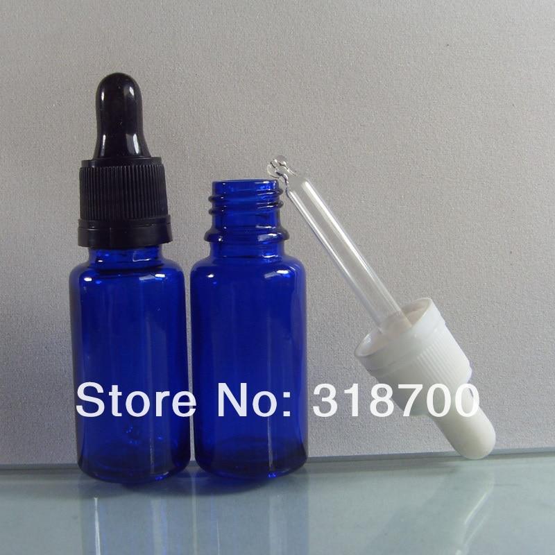 200 шт./лот 15 мл многоразового использования Портативный кобальтовое синее стекло капельница бутылка с капельница с контролем вскрытия