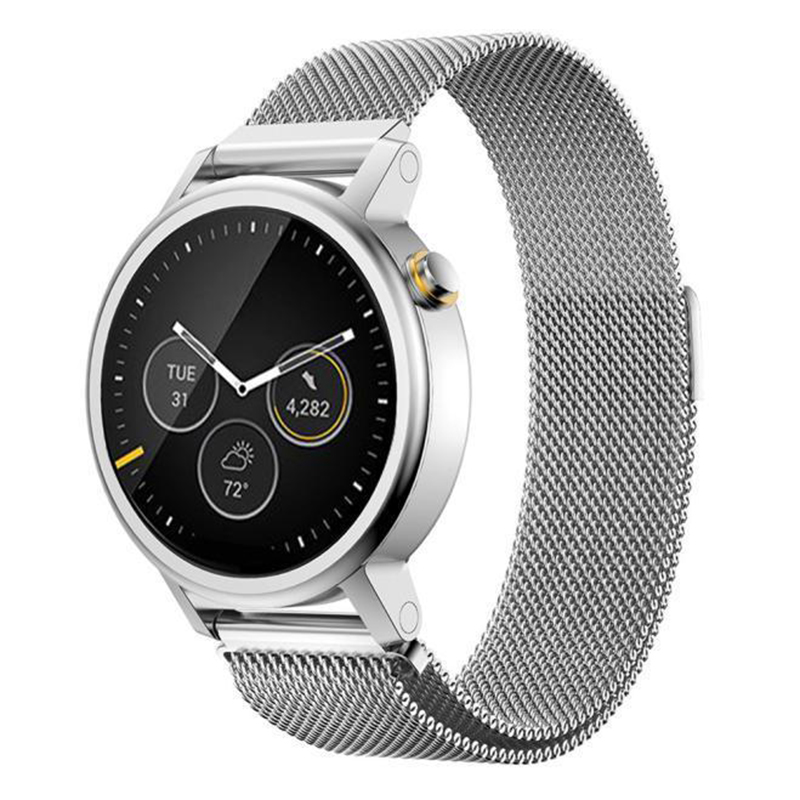Milanese Magnetic Loop Stainless Steel Band For MOTO 360 2nd Smart Watch Sliver 46MM milanese magnetic loop stainless steel band for moto 360 2nd smart watch sliver 42mm