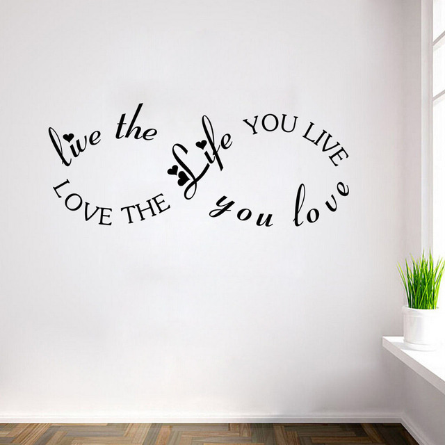 Love Quotes About Life: Aliexpress.com : Buy Home Decor Love The Life You Live BOB