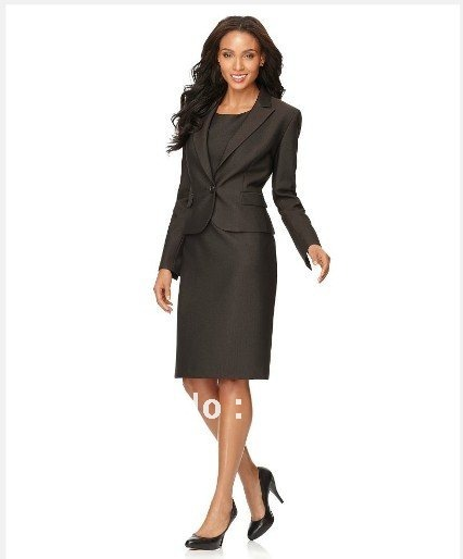 Black Women Suits Women Clothing Single Button Notched Collar ...