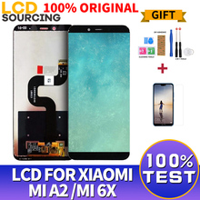 100% ORIGINAL 5.99 inch LCD Display For Xiaomi A2 MI A2 LCD Touch Screen Assembly Digitizer For xiaomi 6X Mi6X Display Replace
