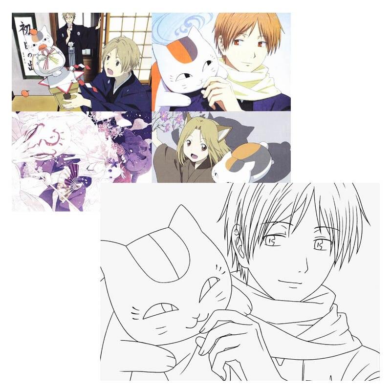Anime Natsume Yuujinchou libro para colorear para niños adulto ...