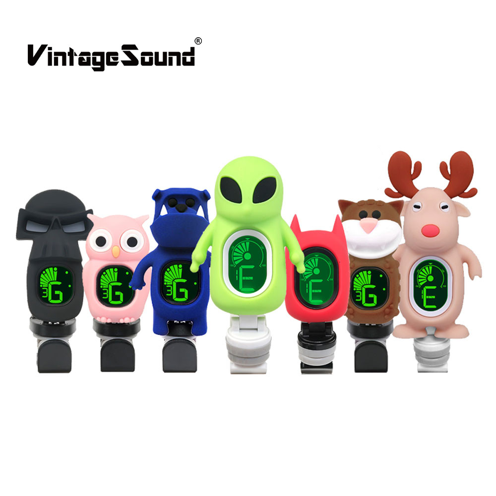 Cartoon Clip on Guitar Tuners batman shape chromatic animal Ukulele Bass Violin High Sensitivity Foldable Rotating Accessories