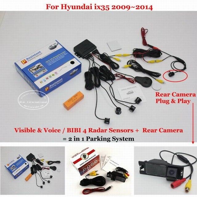 For Hyundai ix35 2009~2014 - Car Parking Sensors + Rear View Back Up Camera = 2 in 1 / BIBI Alarm Parking System