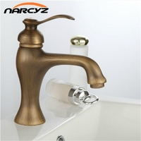 Freight Free Euro Style Single Handle Antique Brass Basin Sink Mixer Tap 7502