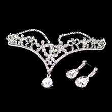 1 Set Clear Crystal Wedding Party Indian Hair Accessories Flower Rhinestone Forehead Head Pieces Bridal Hairchain For Women