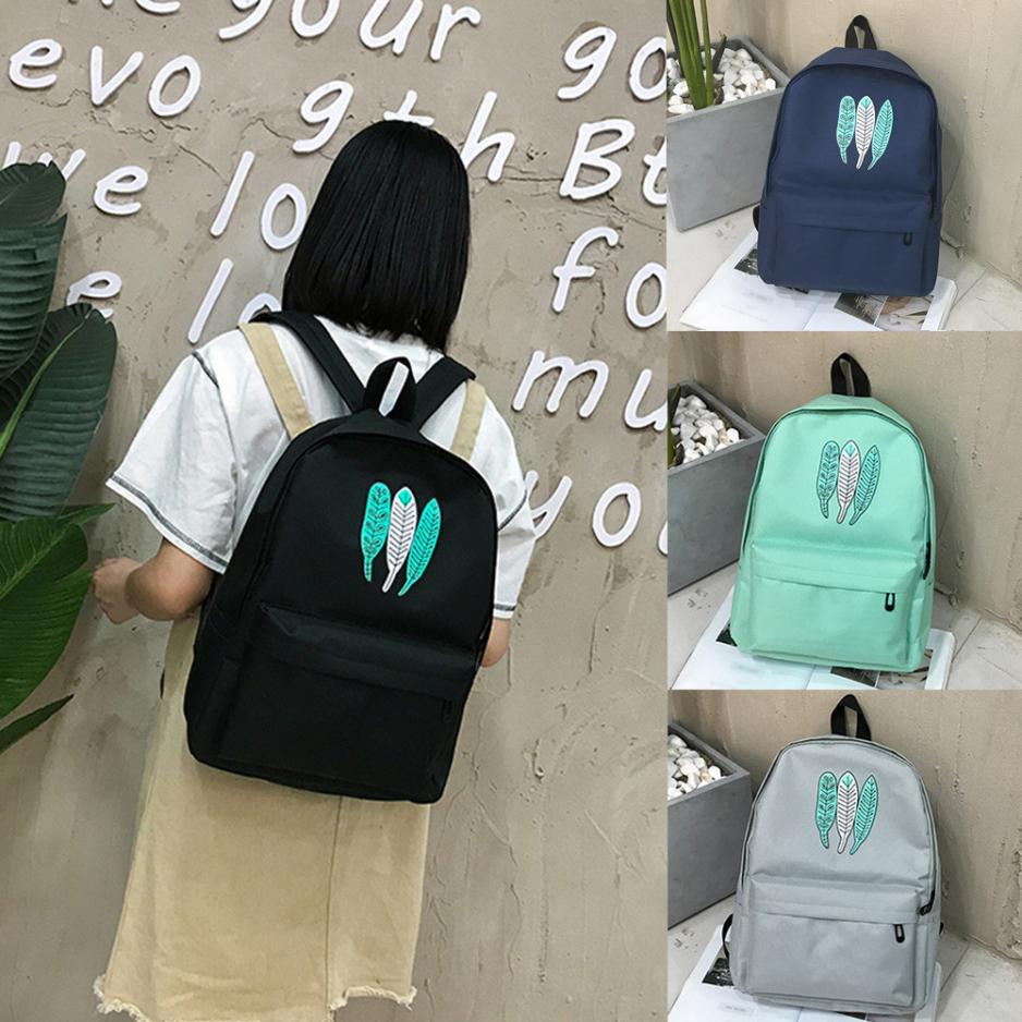 New Arrival Women Girl Oxford Cloth School Bag High Quality Printing Backpack Satchel Women Trave Shoulder Bag mochila plecak S