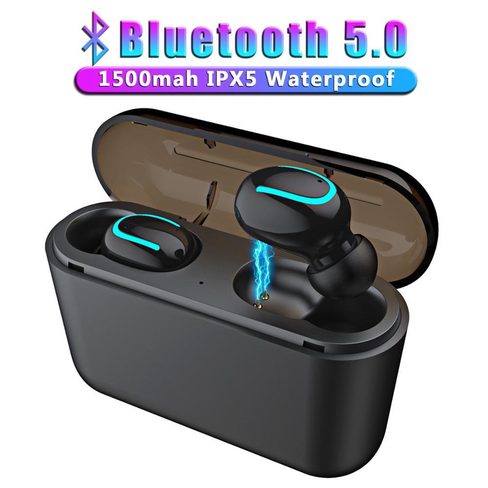 Mini Wireless Earphones Bluetooth 5.0 HBQ Gaming Earphone Handsfree Sport Earbuds with Charging box for Phone Bluetooth Earphones & Headphones  - AliExpress