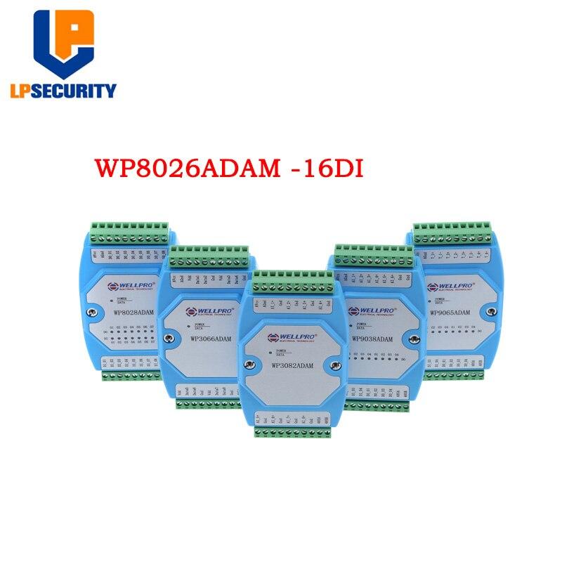 Digital Input Module Switching Module Lsolated 16Channel DI MODBUS Communication WP8026ADAM