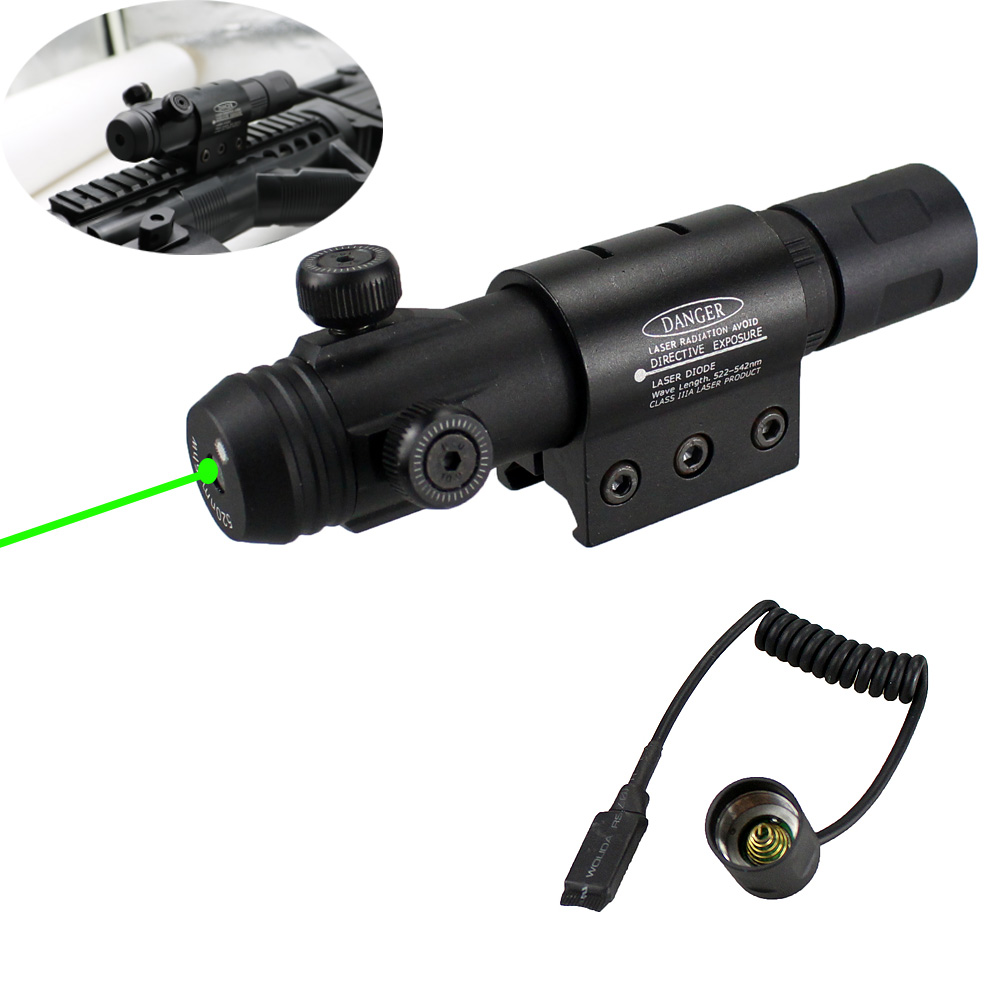 Military Level Rifle Green Laser Sight with 20 mm Rail Mount for Hunting