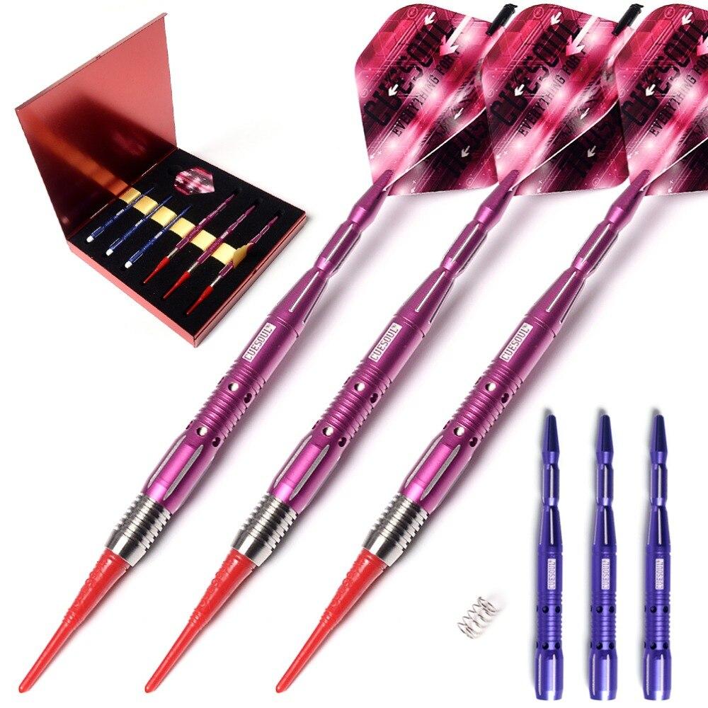 CUESOUL ARMOUR Series 18 Grams Tungsten Soft Tip Darts cuesoul new tungsten steel tip darts armour series 21 23 grams